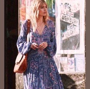 NWT FP Spell Gypsy City Lights Maxi Gown Indigo